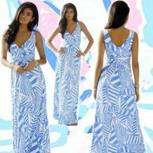 Lilly Pulitzer XXS Sloan Maxi Dress Sail Print